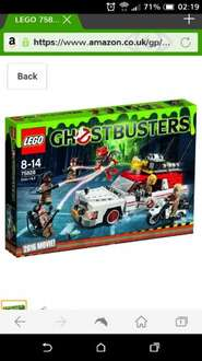 Ghostbusters Ecto 1 &  2 Lego Set £33.89 Amazon .