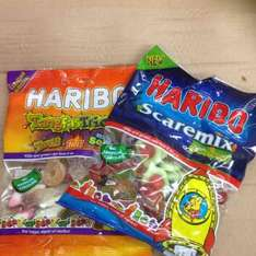 Farmfoods Haribo scare & tangfastricks 150g bag 39p