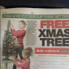 FREE 3ft artificial Christmas Tree from Poundland with 10 tokens from The Sun - starts today £4 cost of paper