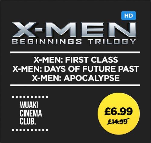 X-Men Beginnings Trilogy digital £6.99 @ Wuaki