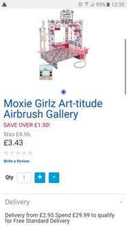 Moxie Girlz Art-tidude Airbrush Gallery missprice £3.43  C&c or add P&P @ Toysrus in store and online