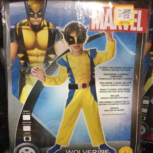 wolverine official marvel costume £7  Smyths