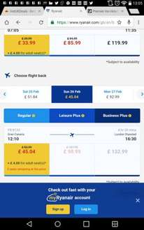 Return flights London Stansted to Gran Canaria 19/2/17-26/2/17 half term £79.03 @ Ryanair