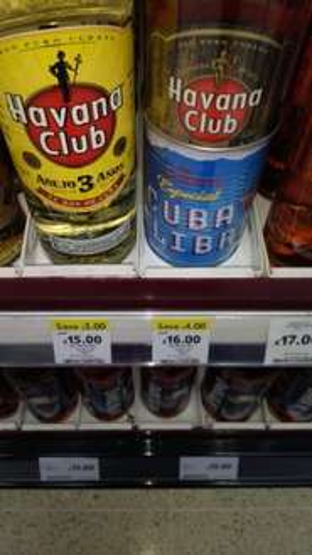 Havana club 70 cl normal anejo rum £16 @ Tesco online and instore