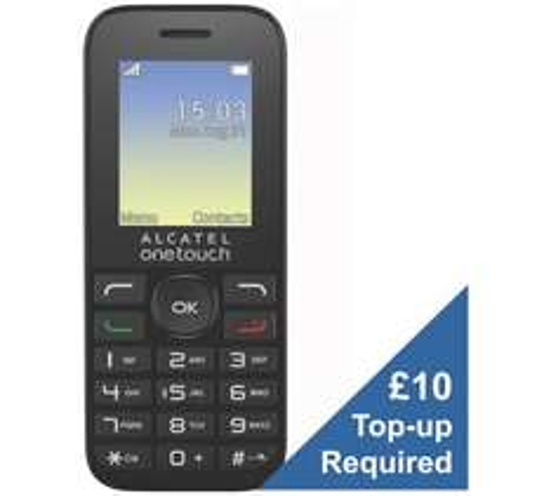 EE Alcatel 10.16 Mobile Phone £1.99 (£10 top up) @ Argos instore