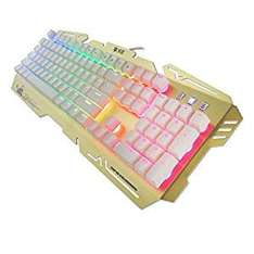 K-RAY Mechanical Gaming Keyboard,Engonomic LED Rainbow Backlight With Water-Resistant Design - Gold £23.99 Sold by Always online and Fulfilled by Amazon