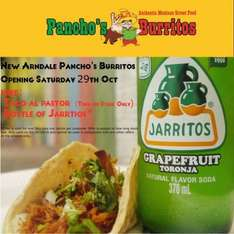 Free taco and bottle of jarritos at Pancho's Burritos  (Manchester Arndale) today only while stock lasts