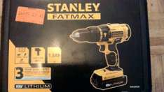 Stanley Fatmax Lithium Ion Cordless Hammer Drill with 2 x 1.3Ah Battery - 18V £31.43 @ Homebase