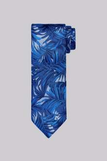 Navy Floral Silk Tie £5 @ Moss Bros, £4 with code from C&C