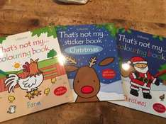 Usborne That's not my...Christmas & Farm colouring/sticker books from the Poundland £1 Maidstone