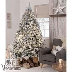 Winter Wonderland: 7ft Snowy Artificial Christmas Tree £69.99 Home Bargains