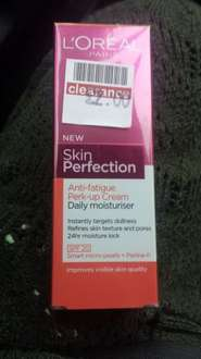 LOREAL SKIN PERFECTION moisturising cream £1.33 boots instore