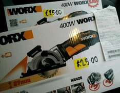 Worx 400W Circular Plunge Saw Worksaw WX426 only £25 @ Homebase - Sheffield - Chesterfield Road