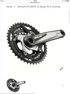 Shimano SLX triple chainset 24t/32t/42t 175mm only £44.99 on je james cycles delivered