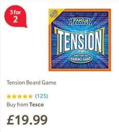 Tension Family Edition £11.95 in-store (and 3 for 2 too) @ Tesco