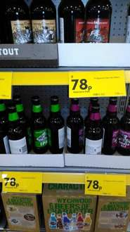 M signature ales 78p a bottle reduced to clear 79p @ Morrison's