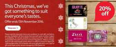 20% off Accessorize, Ask Italian, Pizza Hut and Zizzi gift cards @ Tesco