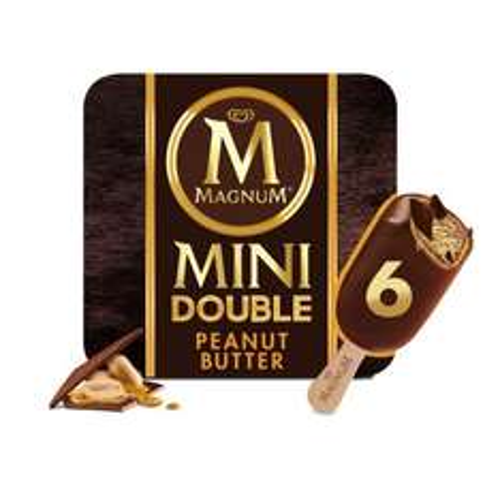 Magnum Mini Double Peanut Butter Ice Cream 6 x 60ml £1 @ Iceland