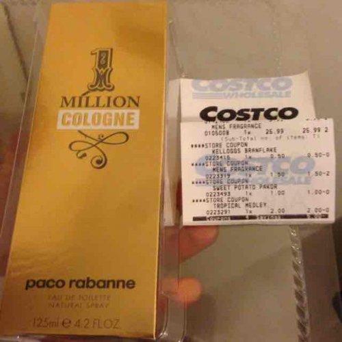 Paco Rabanne 1Million 125ml for Men EDT £29.95 at Coscto
