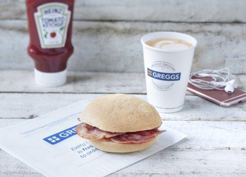 Enjoy a FREE Heinz or HP Breakfast roll now at Greggs