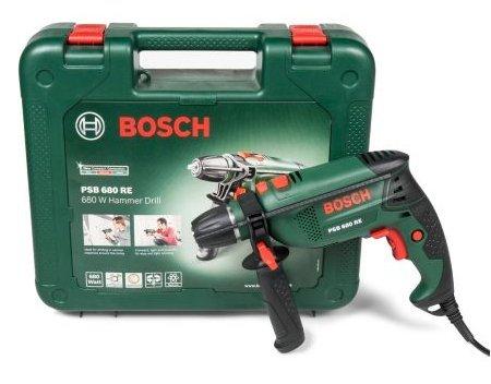 Bosch 680 W Corded Hammer Drill only £36 B&Q