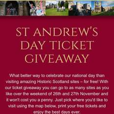 Free tickets for Historic Scotland sites including Edinburgh Castle and Stirling Castle entry