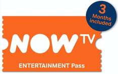 Now TV 3 Month Entertainment Pass - £7.98 - eBay/TechMedics