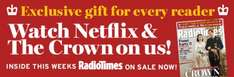 1 Months NETFLIX subscription free with today's Radio Times new & existing customers - £2.30
