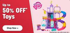 Smyths new up to half price toy sale plus voucher codes on top today only 1/11 inc Toot toot goldmine was £52.99 now £29.99 Thomas trackmaster holiday cargo with free DVD's was £69.99 now £42.48 @ Smyths toys