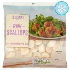 Tesco Raw Scallops 220g (frozen) £1 reduced from £4.