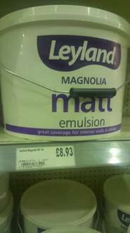 Leyland 10litre magnolia/brilliant white paint £8.93 @ Homebase
