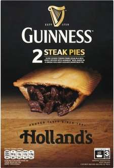 Holland's Guinness Pastry Topped Steak Pie (Pack of 2) was £2.50 now £1.50 @ Sainsbury's
