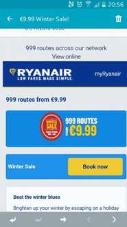 Beat the winter blues with Ryanair. Flights from £9.99
