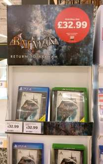 Batman, Return To Arkham £32.99 @ Sainsburys