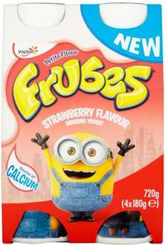 Frubes Minions Strawberry Yogurt Drink (4 x 180g) Half Price was £2.00 now £1.00 @ Tesco