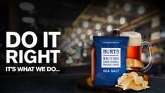 Burts Hand Cooked Crisps 150g each - 2 for £1 - instore deal @ Bargain Buys