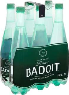 Badoit Naturally Sparkling Mineral Water (6 x 1L) was £4.98 now 2 Packs of 6 Bottles for £6.00 (50p a Bottle) @ Waitrose