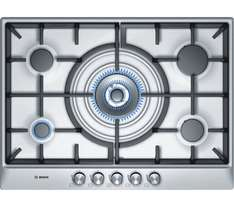 BOSCH PCQ715B90E Gas Hob - Brushed Steel 5 burner gas hob £234 after code @ currys