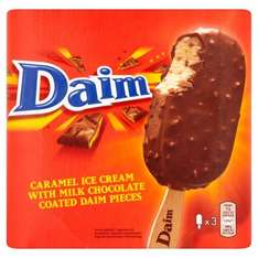 Daim Caramel Ice Cream with Milk Chocolate Coated Daim Pieces / Oreo Ice Cream Sticks 3 x 110ml (330ml) was £2.50 now Half Price £1.25 @ Ocado