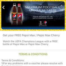 FREE Pepsi Max, or Pepsi Max Cherry, 600ml size, at One Stop stores using App