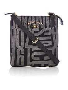 Vivienne Westwood Anglo jacquard black small cross body bag (245237042_Black) £143 WAS £205 @ HouseofFraser