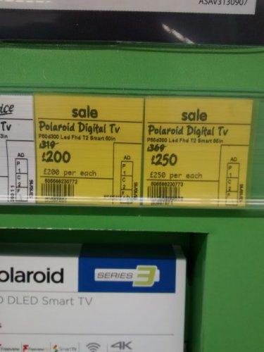 "Polaroid 50"" and 55' smart TV - £250 @ Asda"