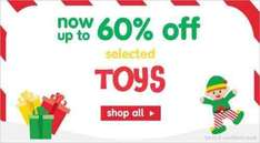 up to 60 percent off at ELC