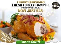Musclefood Luxury Christmas Turkey Hamper + 20 Extra Pigs in blankets Free + Free Delivery - £45