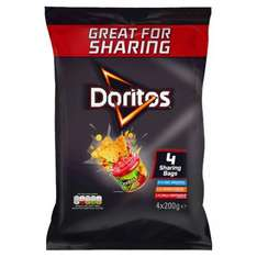 Doritos Sharing Multipack 4 x 200g £3 @ Tesco in store and online