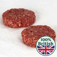 Morrisons hand made butcher counter steak burgers - 8 for £2.97