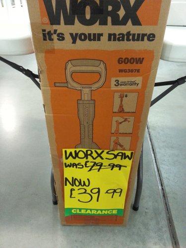 Worx WG307E 600W Jawsaw Chainsaw £39.99 in-store @ Homebase