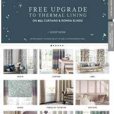 NEXT Made to Measure Curtains & Roman Blinds Clearance + FREE upgrade to Thermal lining