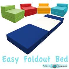 Water proof / washable foam fold out single chair bed in 10 colours was £49.99 now £29.97 - £34.97 delivered @ eBay sold by matchingwarehouse