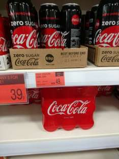 Coka cola zero 500ml can 49p in b and m